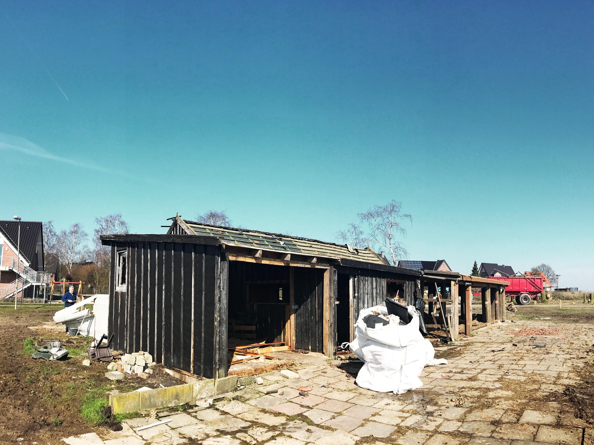 Die Ponnyhütte einen Tag vor dem Abriss